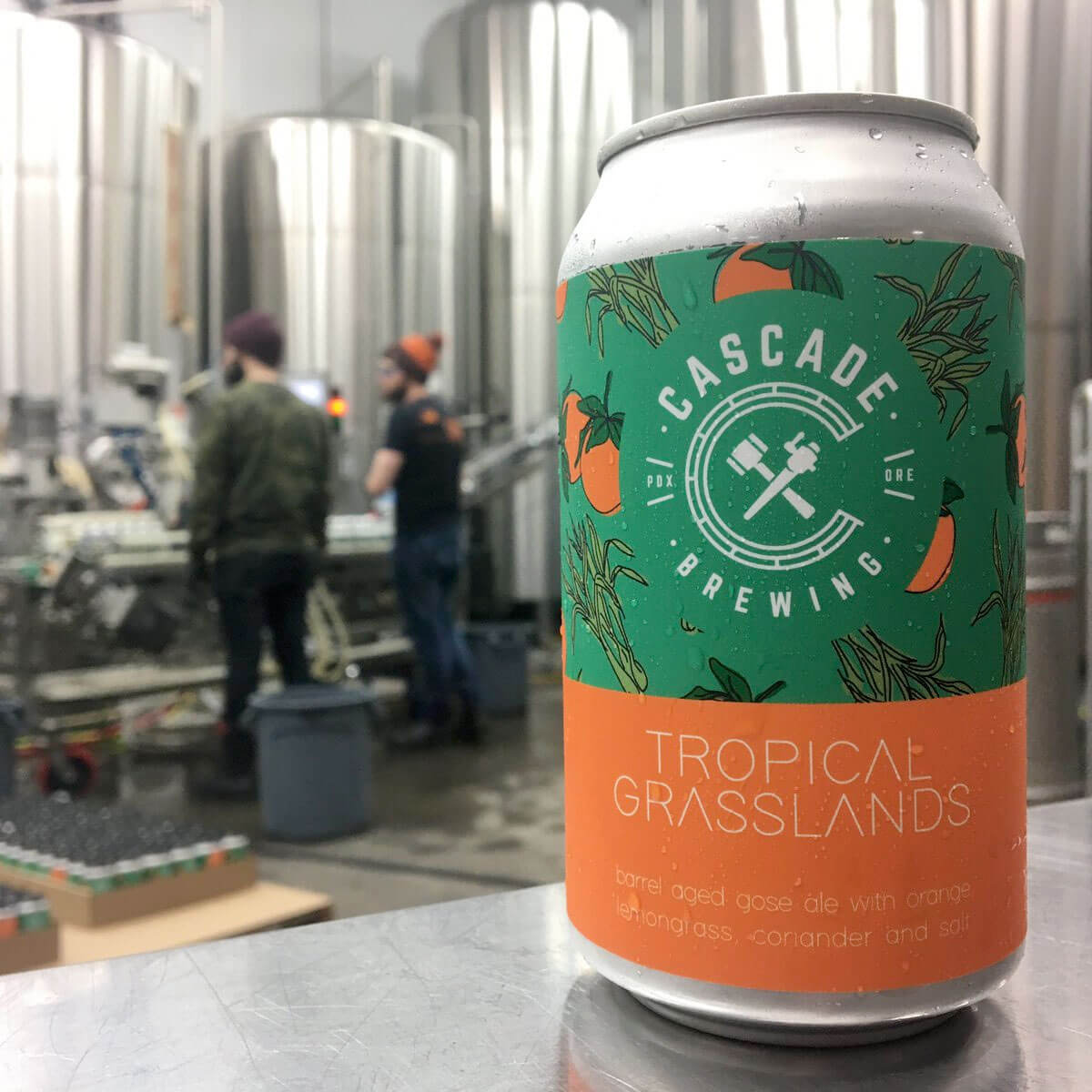 12 oz. can of Tropical Grasslands by Cascade Brewing