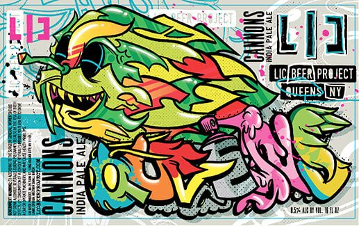Label art for the Cannons by LIC Beer Project