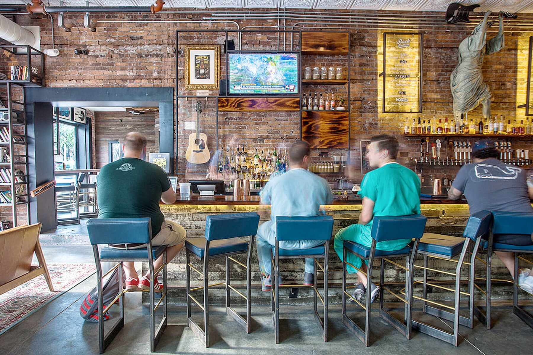 Inside the Rock Brothers Brewing taproom in Tampa, Florida