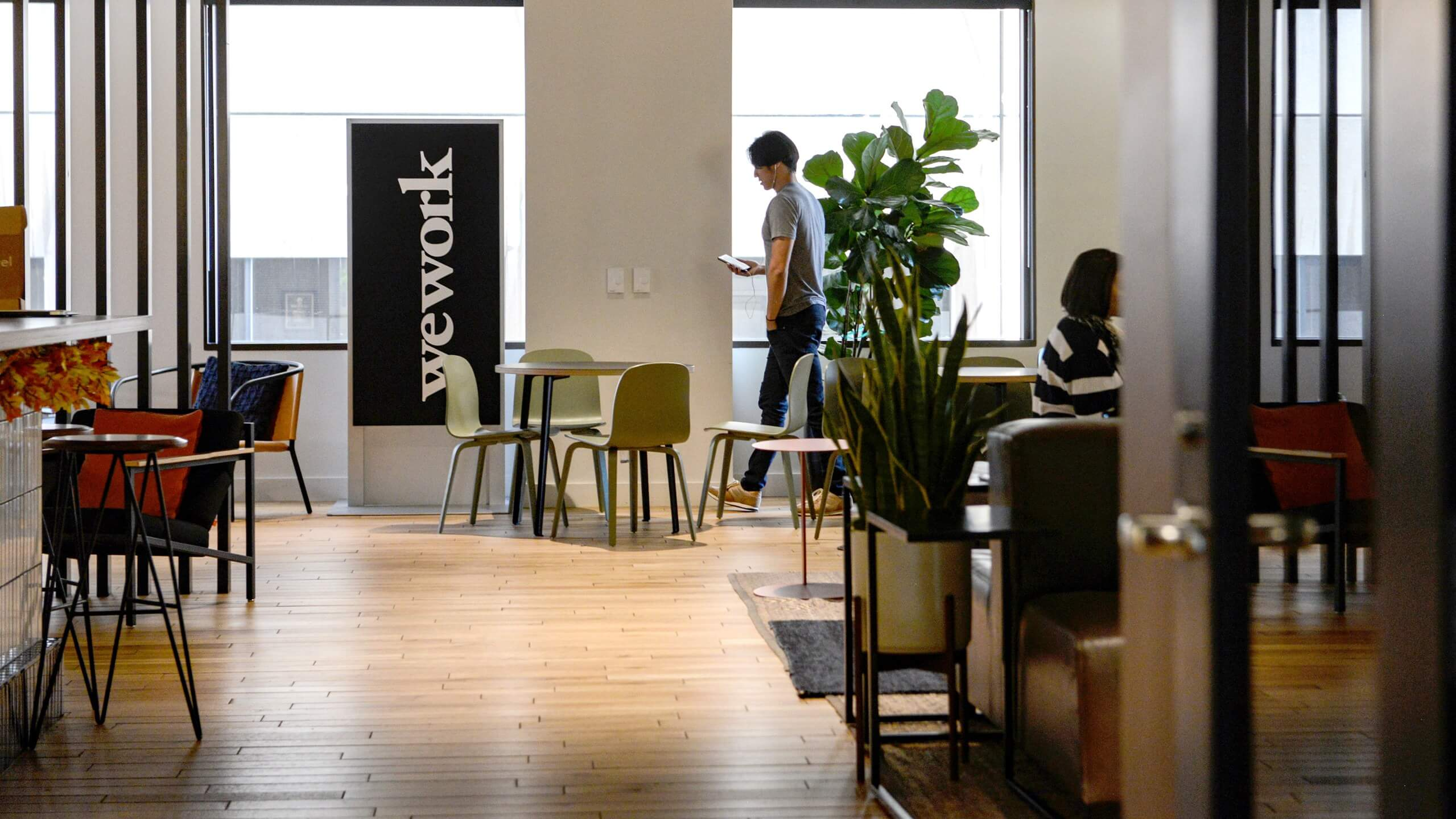 Inside one of the WeWork co-working spaces