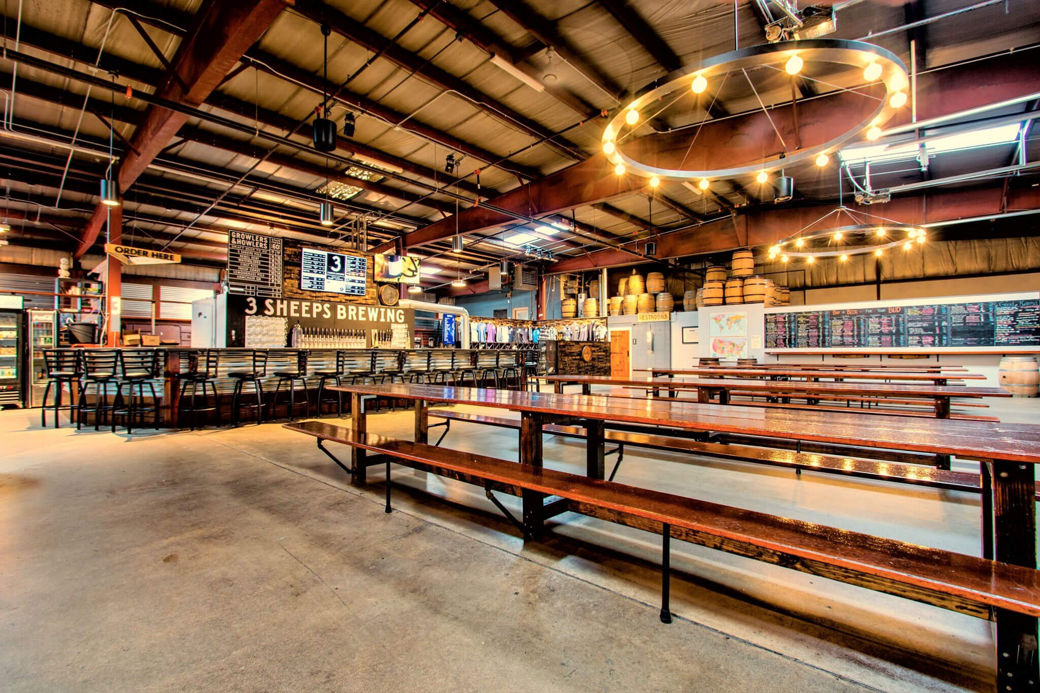 Inside the taproom at 3 Sheeps Brewing Co. in Sheboygan, Wisconsin