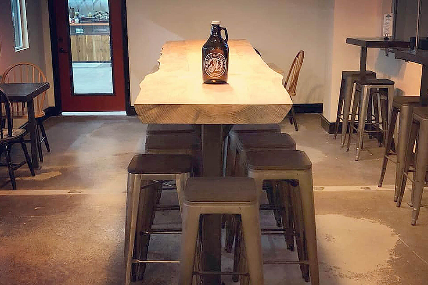 Inside the taproom at Amalgamation Brewing Company in Fresno, California