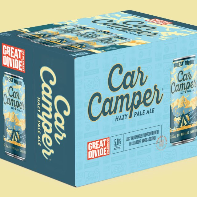 A passion for great beer and the great outdoors influenced the newest Great Divide Brewing Company's year-round offering: Car Camper Hazy Pale Ale.