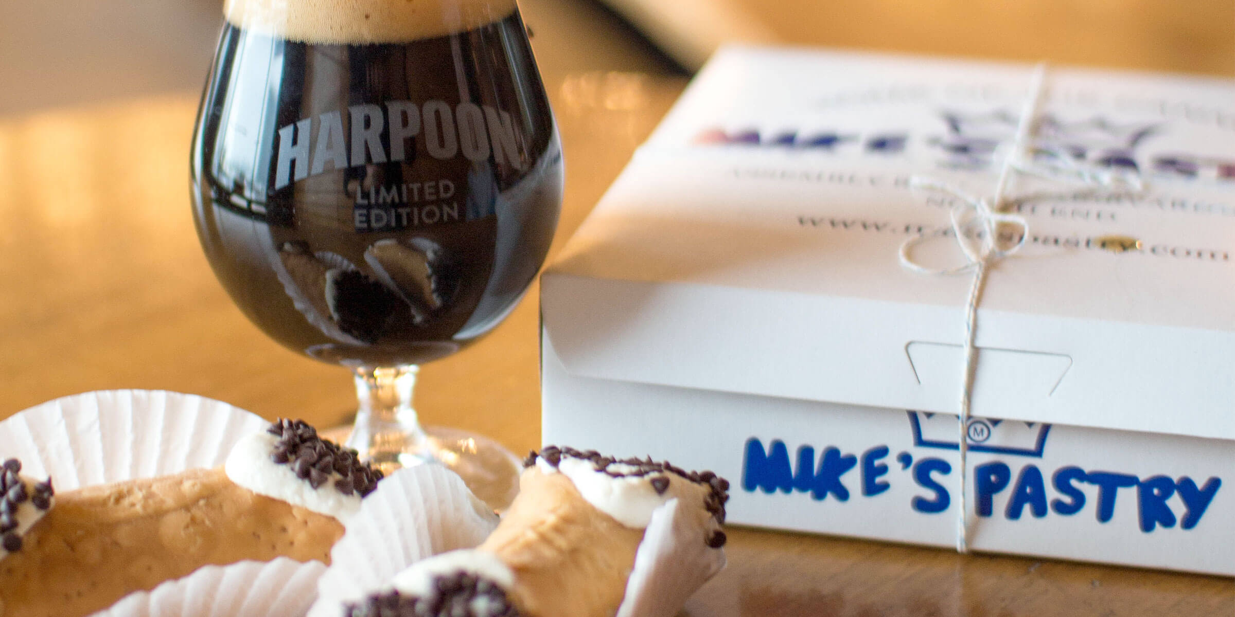 Harpoon Brewery is partnering with Mike's Pastry, the world famous pastry shop, to brew up a limited, delicious combo: Harpoon Mike's Pastry Cannoli Stout.