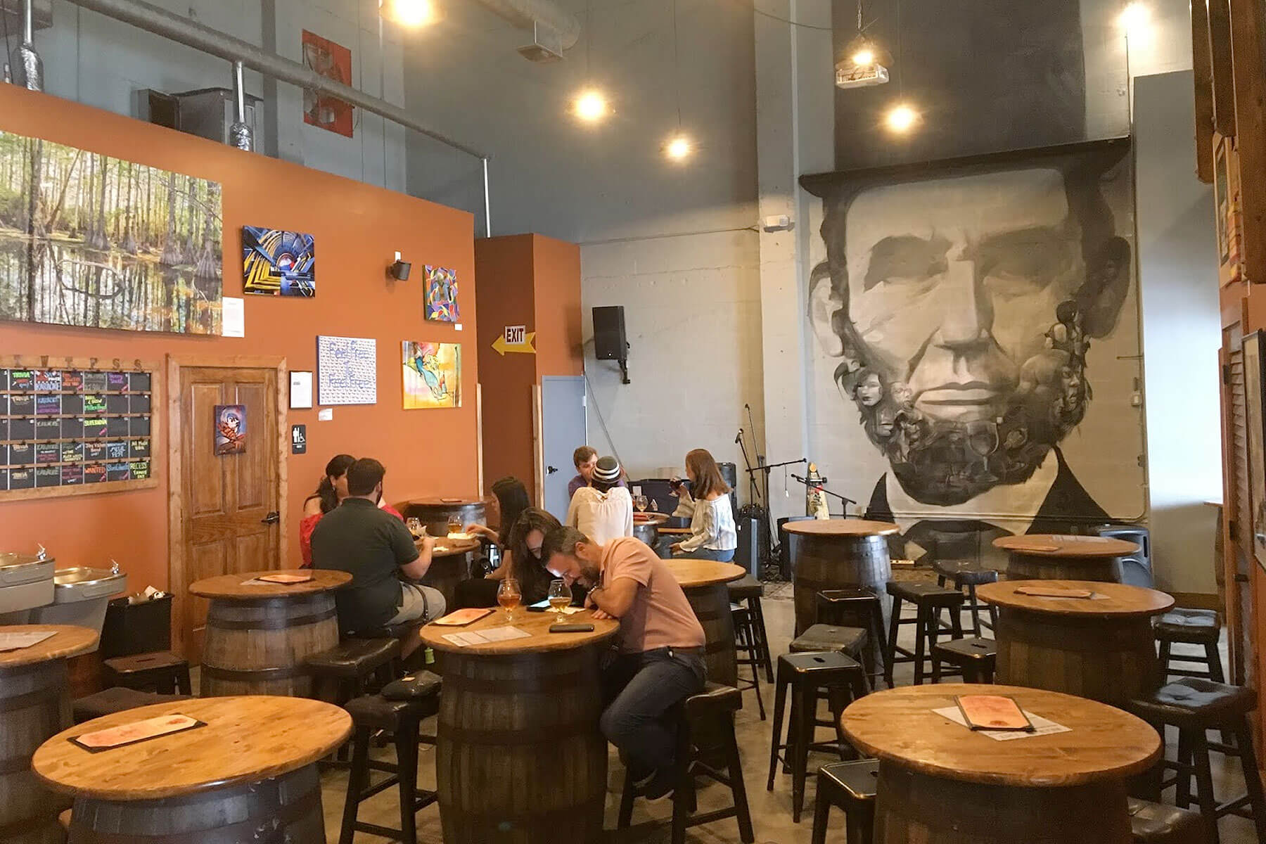 Inside the Lincoln's Beard Brewing Co. taproom in Miami, Florida