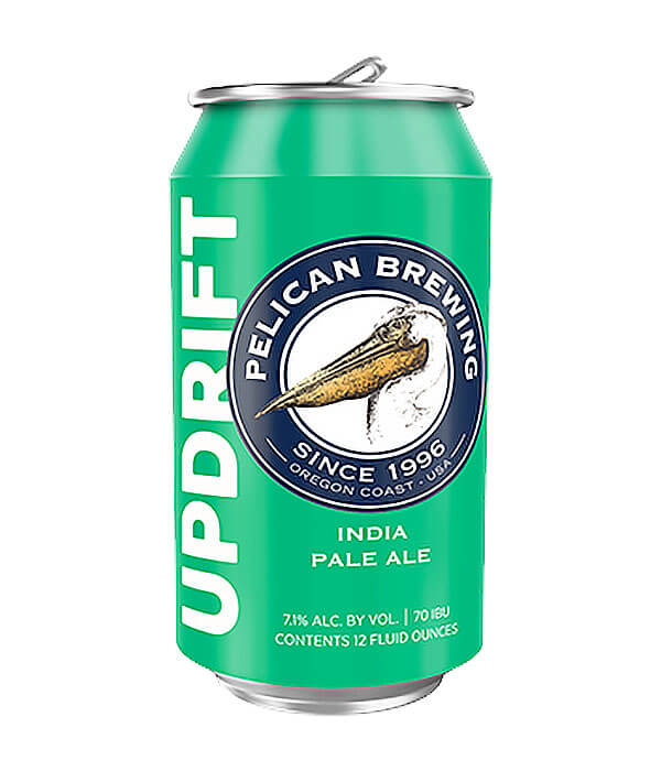 12 oz. can of Updrift IPA by Pelican Brewing Company