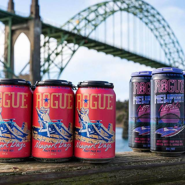 Rogue Ales & Spirits honors its hometown in Oregon with the release of two new beers: Newport Nights, an Imperial IPA, and Newport Daze, a Hazy Pale Ale.