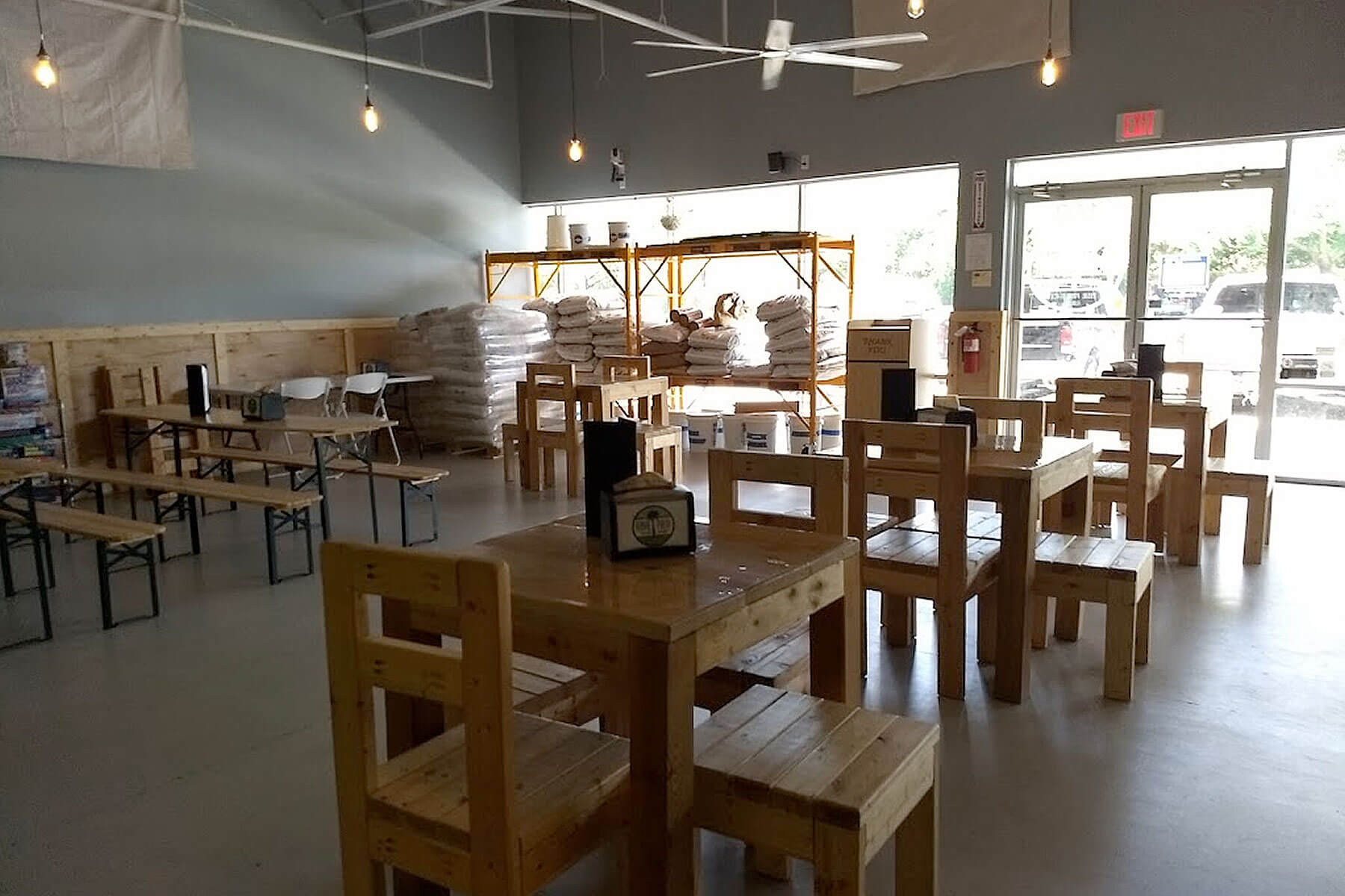 Inside the taproom at Royal Palm Brewing Company in Royal Palm Beach, Florida