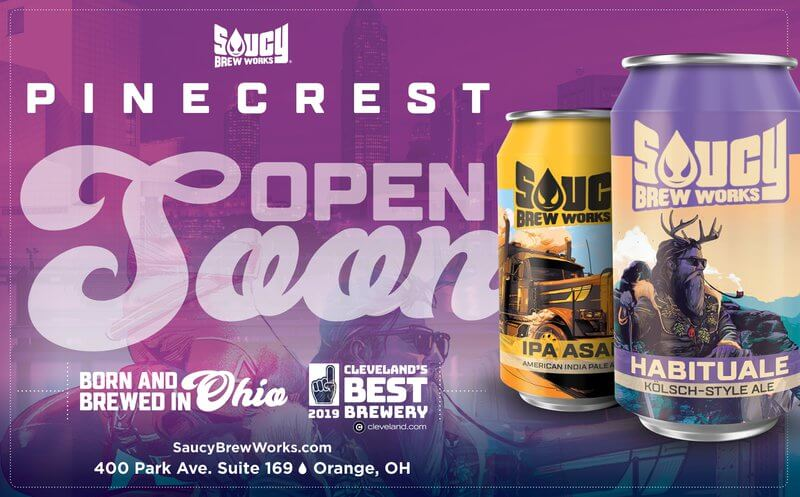 Cleveland-based Saucy Brew Works announced that their rapidly-growing brand will be adding expanding into Orange Village this April.