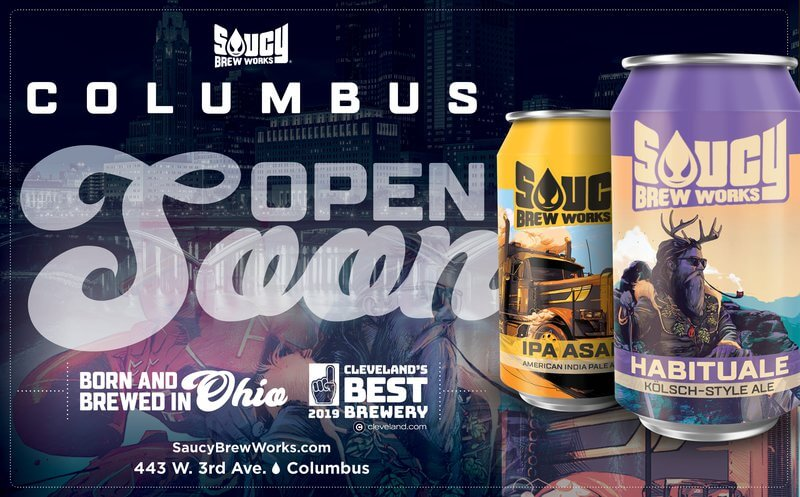 Cleveland-based Saucy Brew Works announced that their rapidly-growing brand will be adding expanding into Columbus this April.