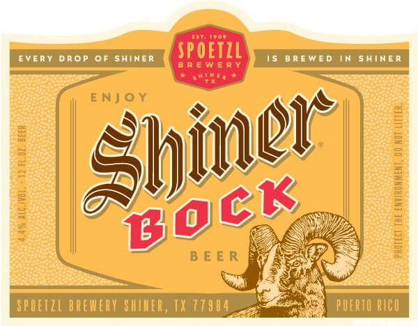 Packaging art for the Shiner Bock by Spoetzl Brewery