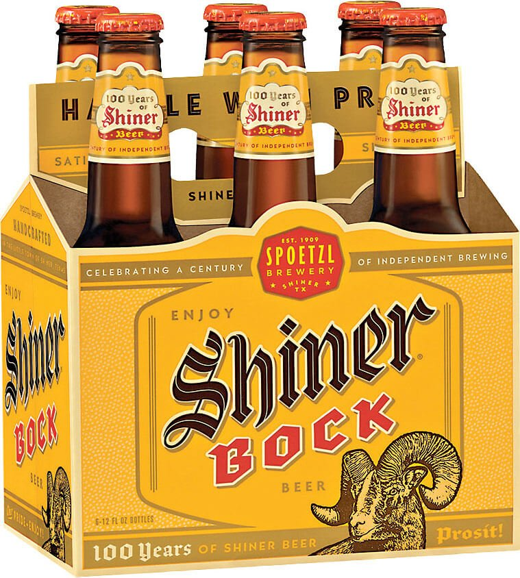 Label art for the Shiner Bock by Spoetzl Brewery