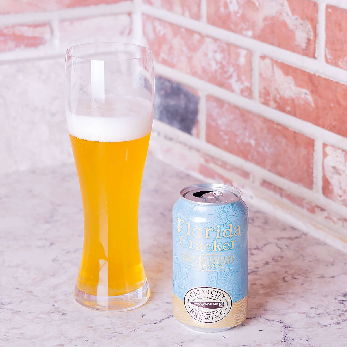 Florida Cracker is a Belgian-style Witbier by Cigar City Brewing is a light and refreshing blend of wheat bread with orange and lime citrus.