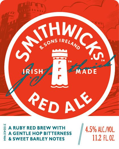 Label art for the Smithwick's Red Ale by Guinness Ltd.