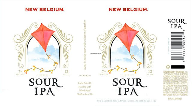 Label design for 12 oz. cans of the Sour IPA by New Belgium Brewing Company