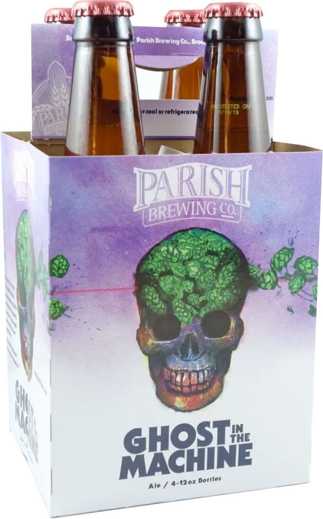 Packaging art for the Ghost in the Machine by Parish Brewing Co.