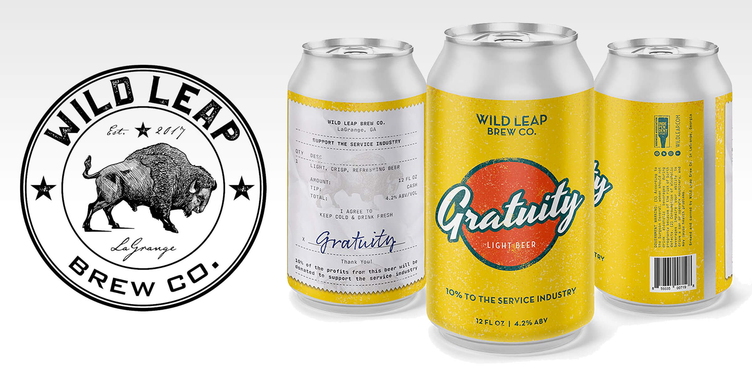 Wild Leap Brew Co. released Gratuity, a craft beer devoted to supporting service industry workers who have been hit hard by the worldwide COVID-19 crisis.