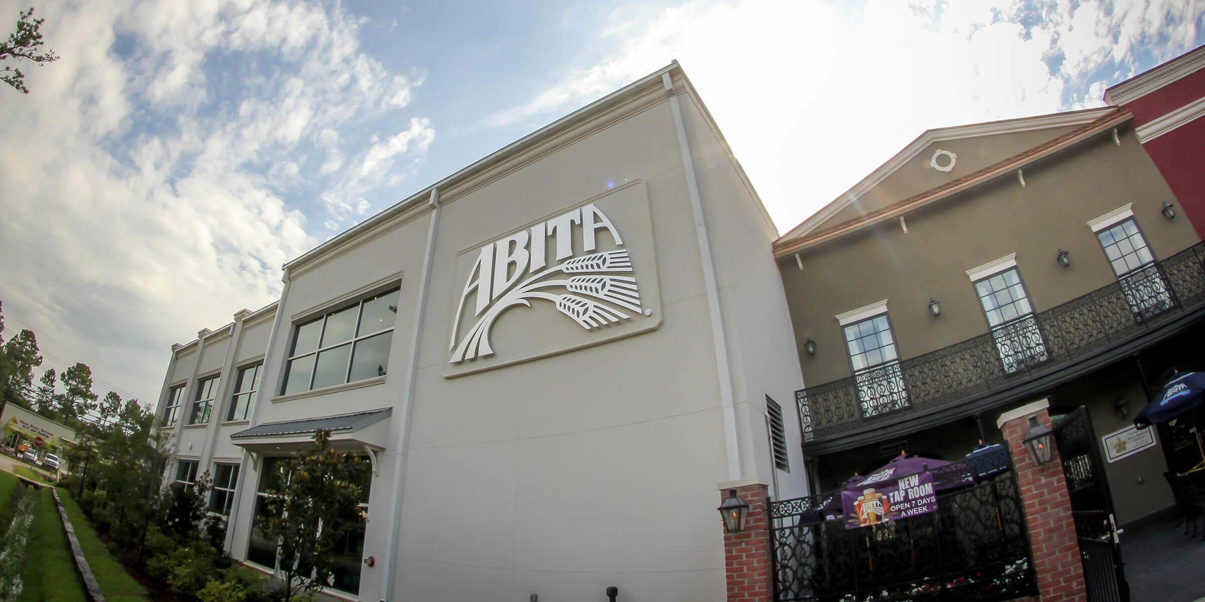 Outside Abita Brewing Company in Covington, Louisiana
