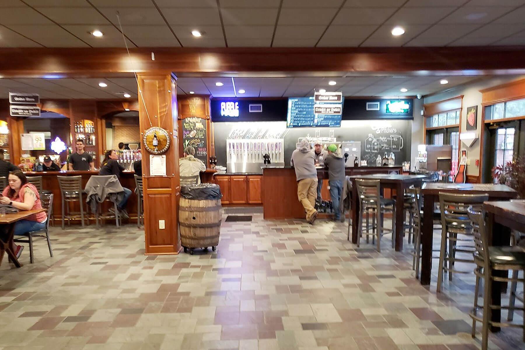 Inside the taproom at Abita Brewing Company in Covington, Louisiana