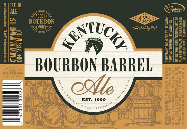 Label art for the Kentucky Bourbon Barrel Ale by Alltech Lexington Brewing & Distilling Co.