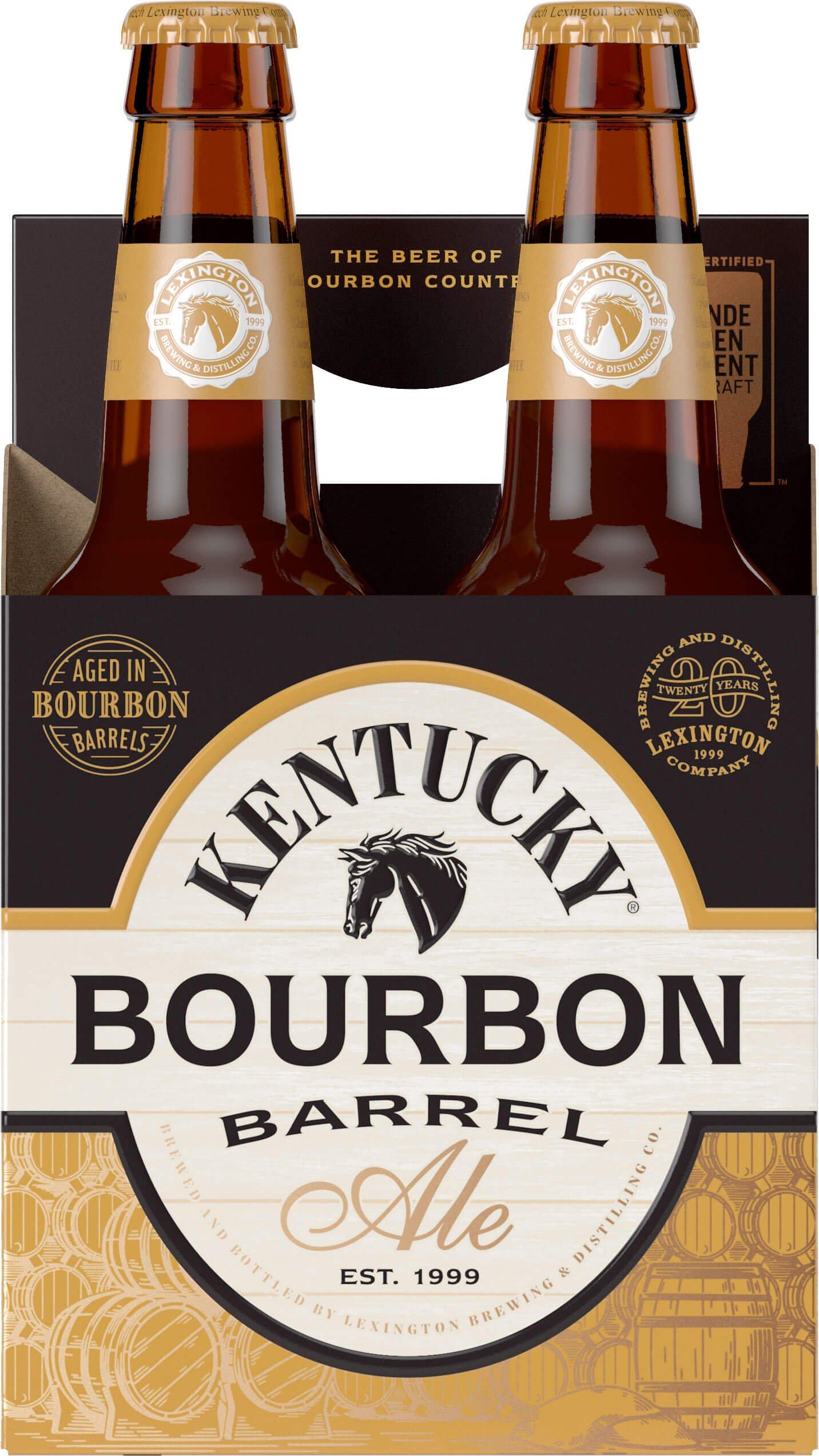 Packaging art for the Kentucky Bourbon Barrel Ale by Alltech Lexington Brewing & Distilling Co.