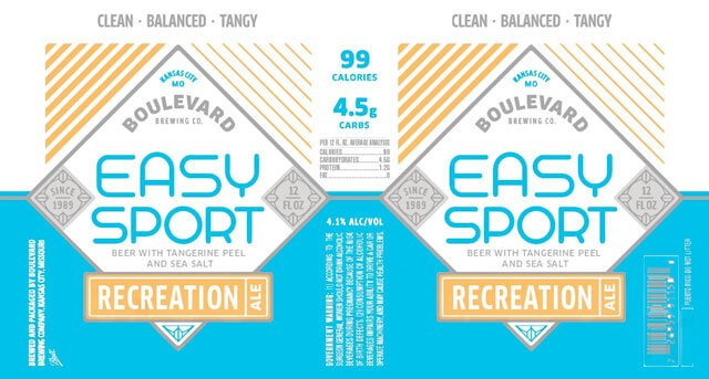 Label art for the Easy Sport by Boulevard Brewing Co.