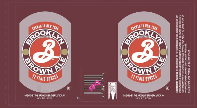 Label art for the Brooklyn Brown Ale by Brooklyn Brewery