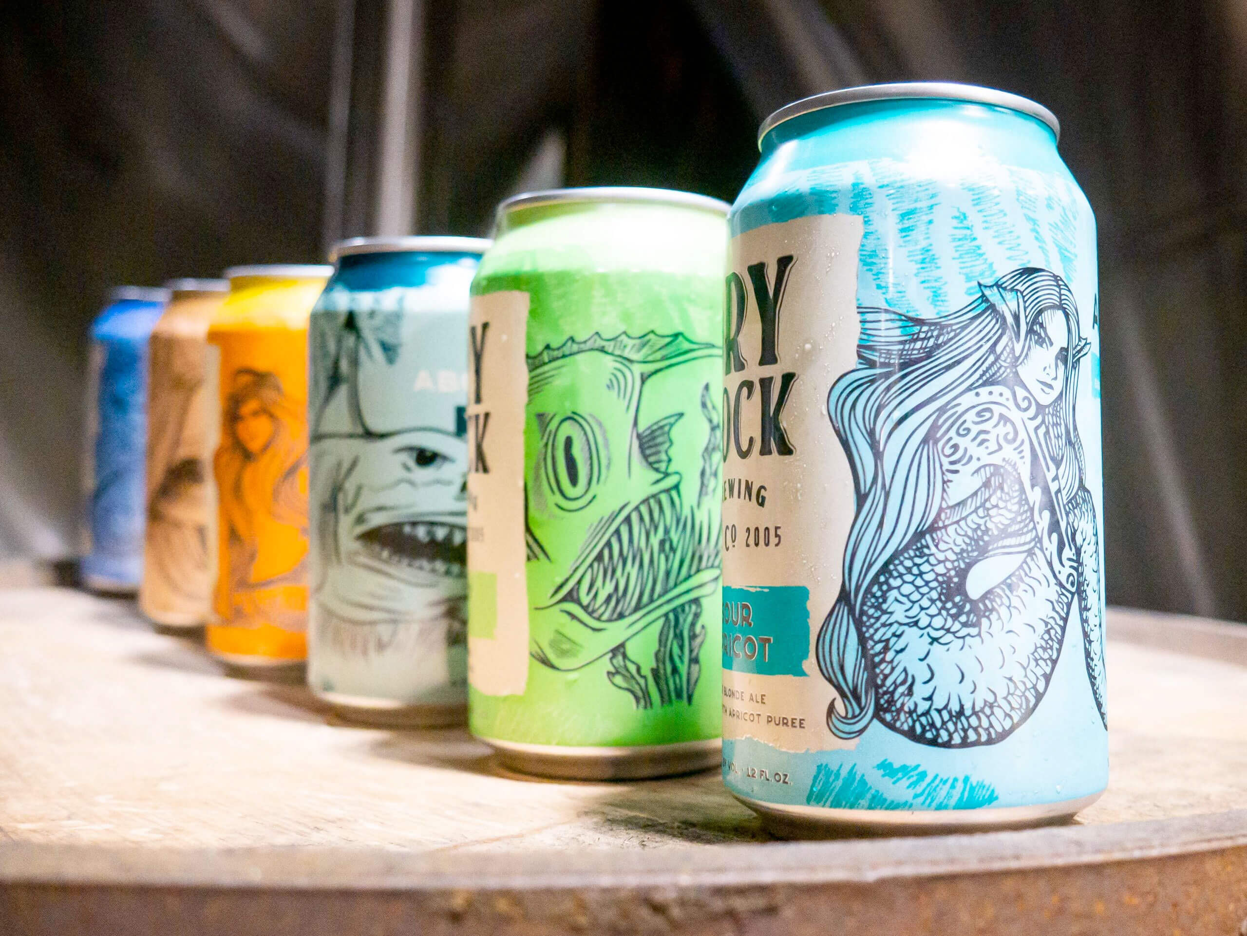 Redesigned 12 oz. cans by Dry Dock Brewing Company