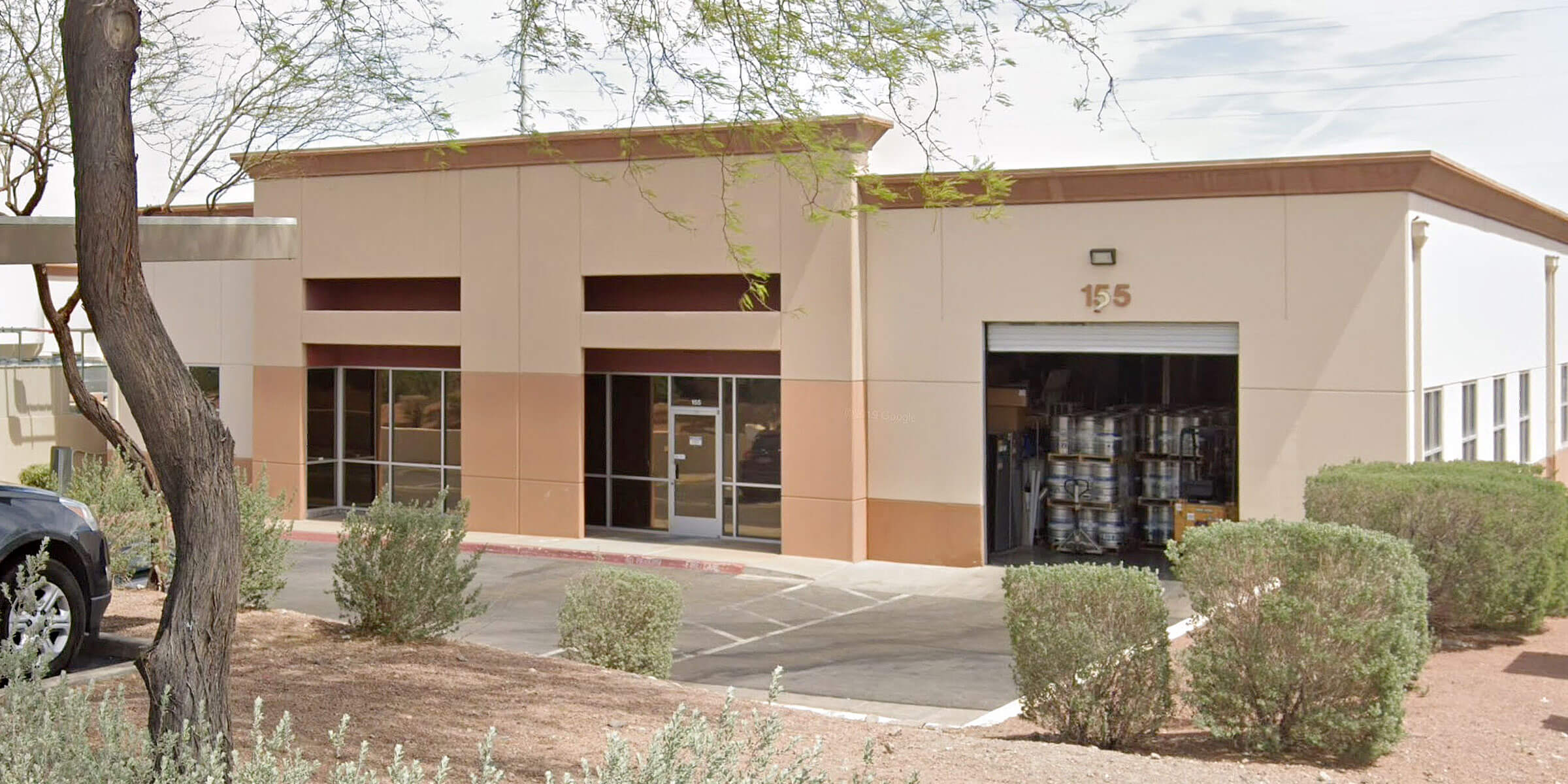Outside the production facility at Joseph James Brewing Co. in Henderson, Nevada