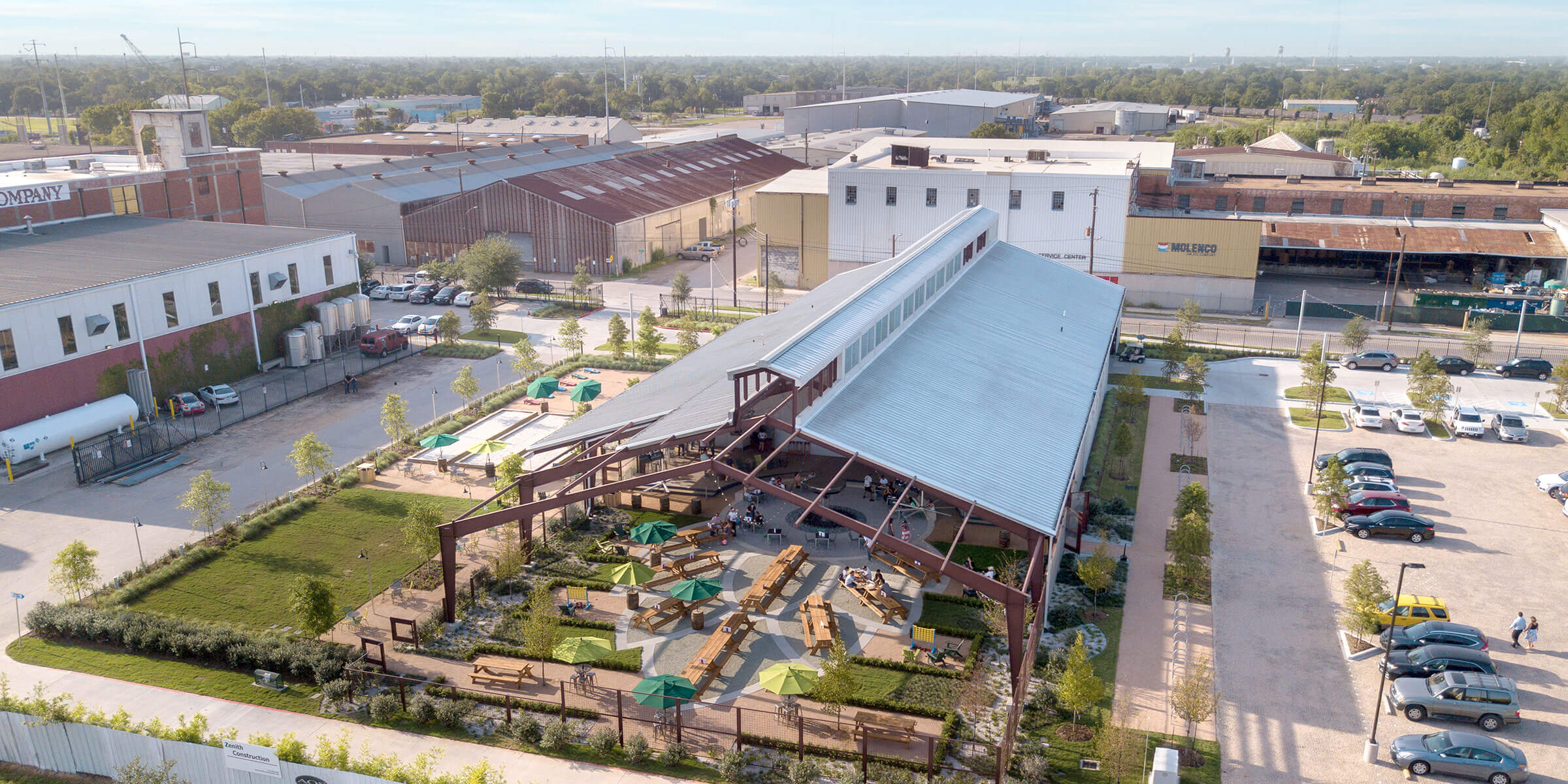 Above the Saint Arnold Brewing Company in Houston, Texas