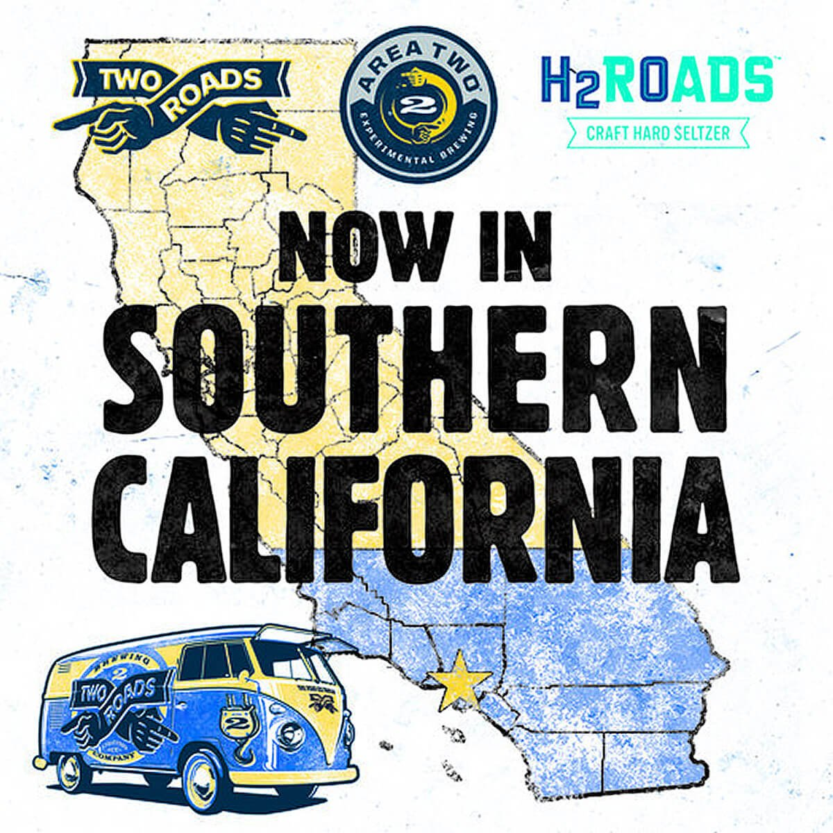 Two Roads Brewing Co announced that its Road Less Traveled beers are rolling into Southern California with products on store shelves now.