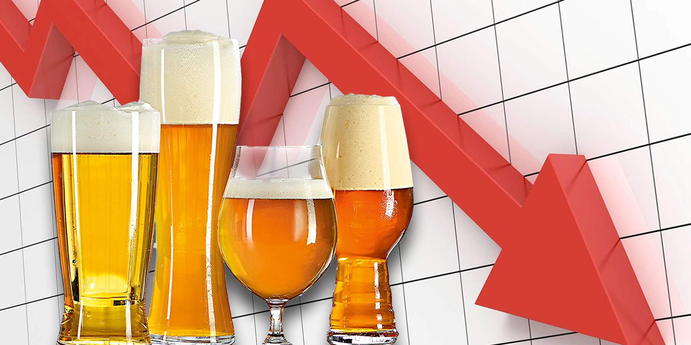 Chart shows contraction of beer industry and/or segment over time.