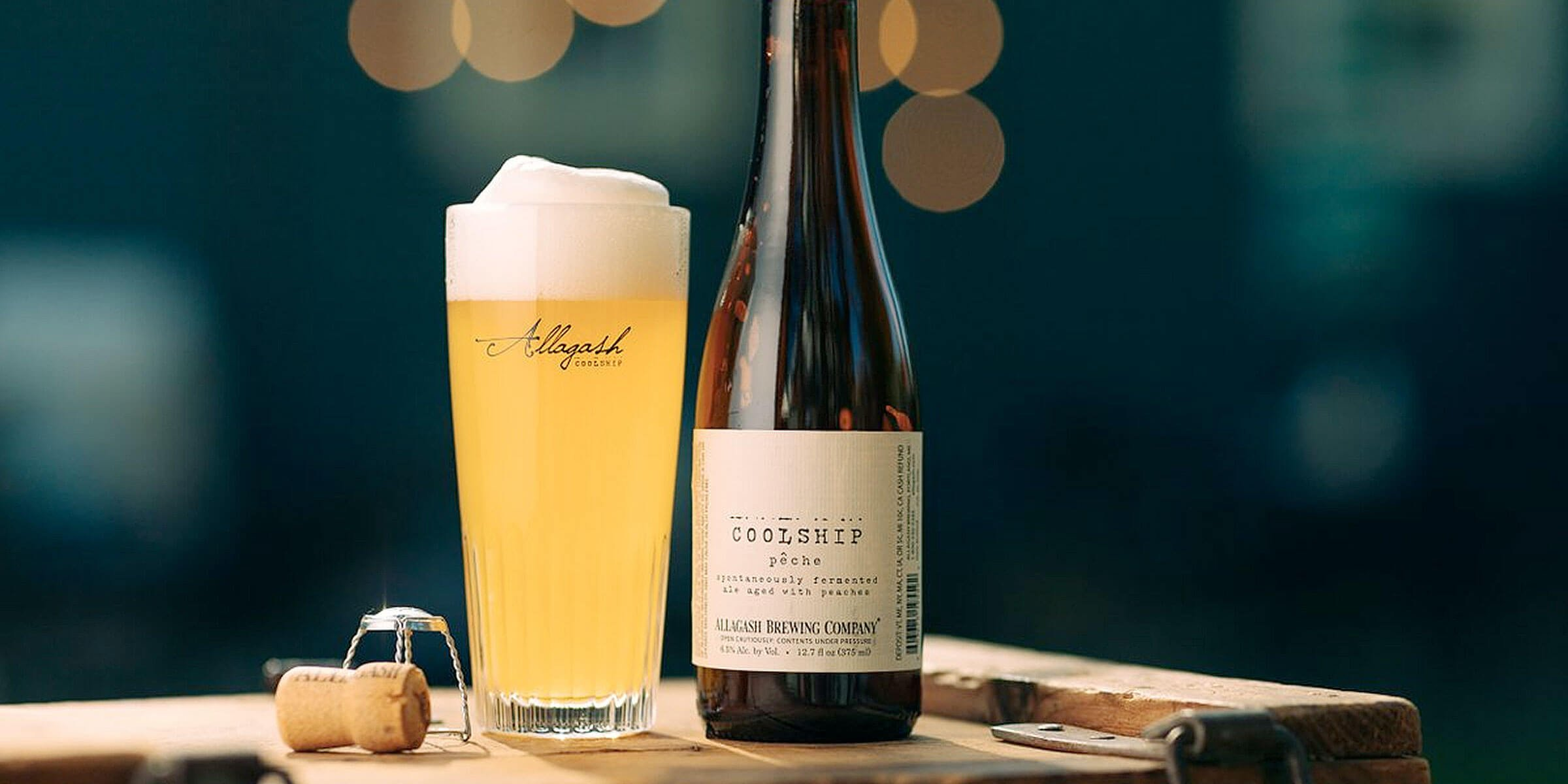 Allagash Brewing Company will return to distributing their beers in Wisconsin, including this new one-off, the Coolship Pêche.