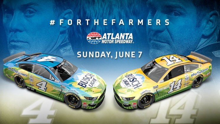 Busch is raising further awareness to the cause with NASCAR drivers Kevin Harvick and Kansas-native Clint Bowyer at the June 7th NASCAR Cup Series race in Atlanta
