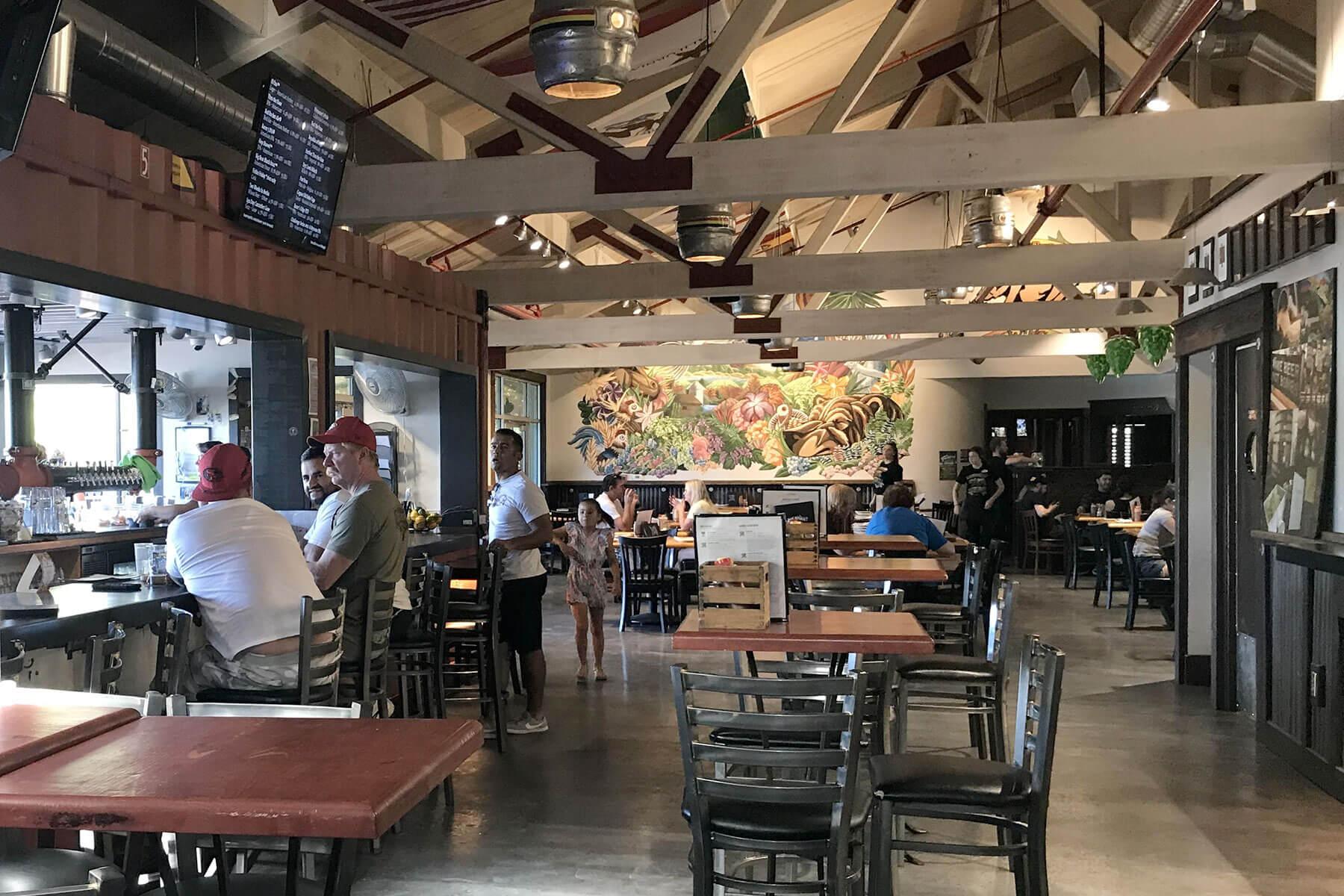 Inside the Bear Republic Brewing Company Pub & Restaurant in Rohnert Park, California