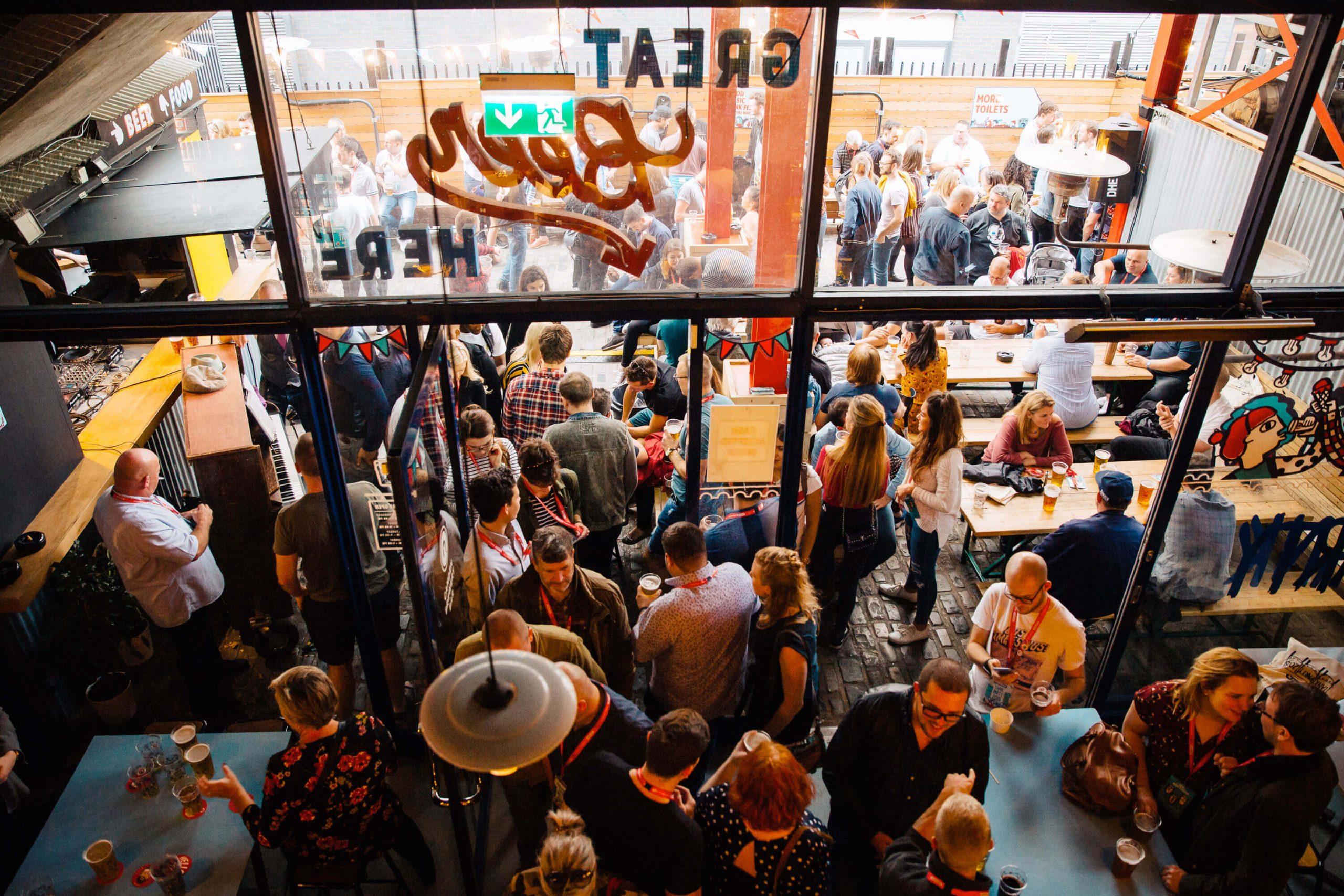 Inside the Camden Town Brewery brewpub in London, United Kingdom