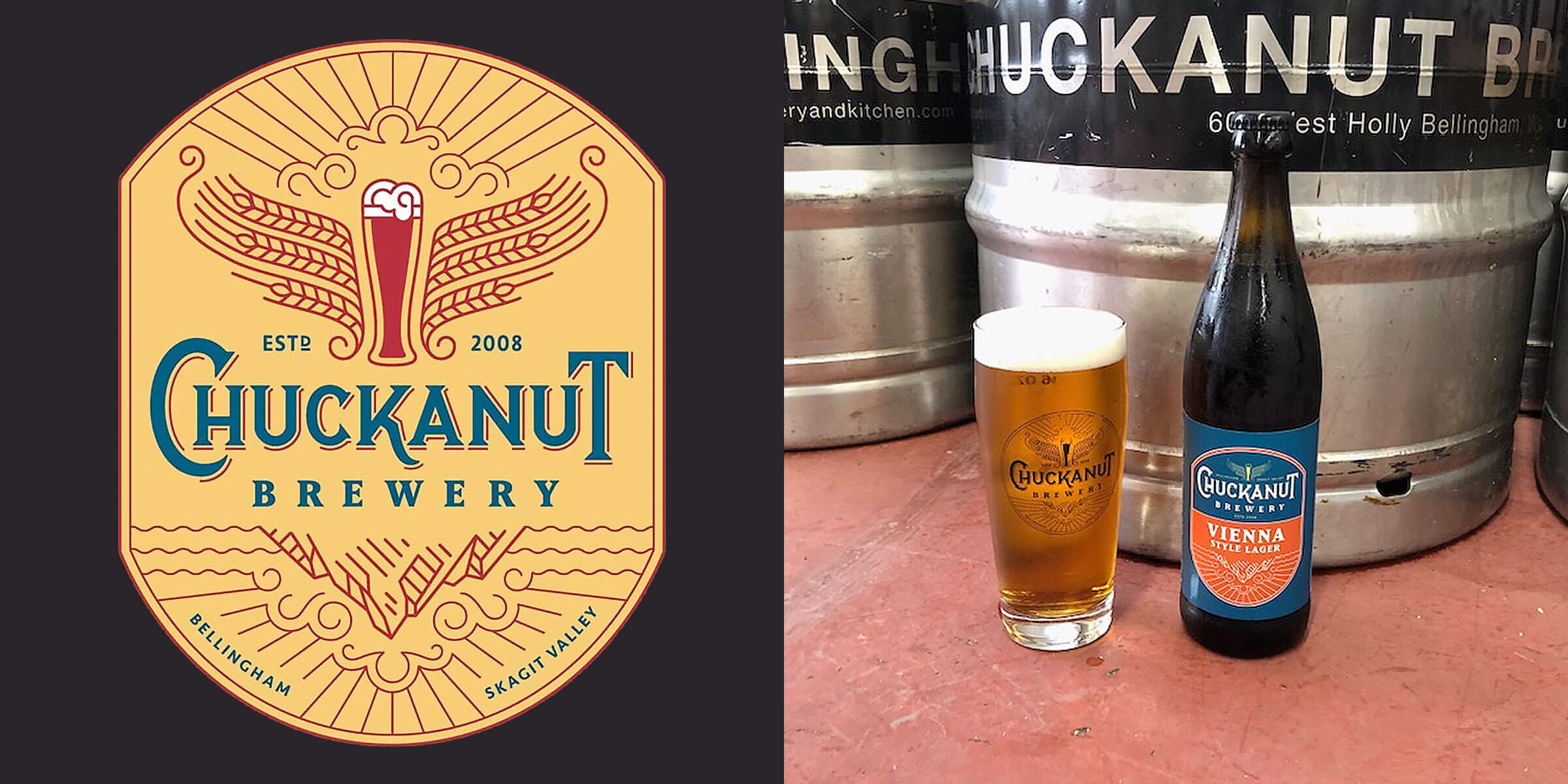 The Chuckanut Vienna Lager from Chuckanut Brewery has won four GABF awards and now, for the first time, is being bottled and shipped to retail markets.