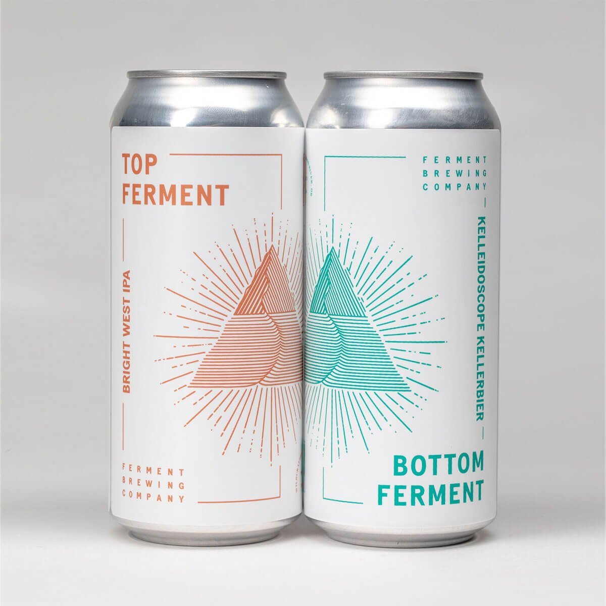 16 oz. cans of Top Ferment and Bottom Ferment by Ferment Brewing Company