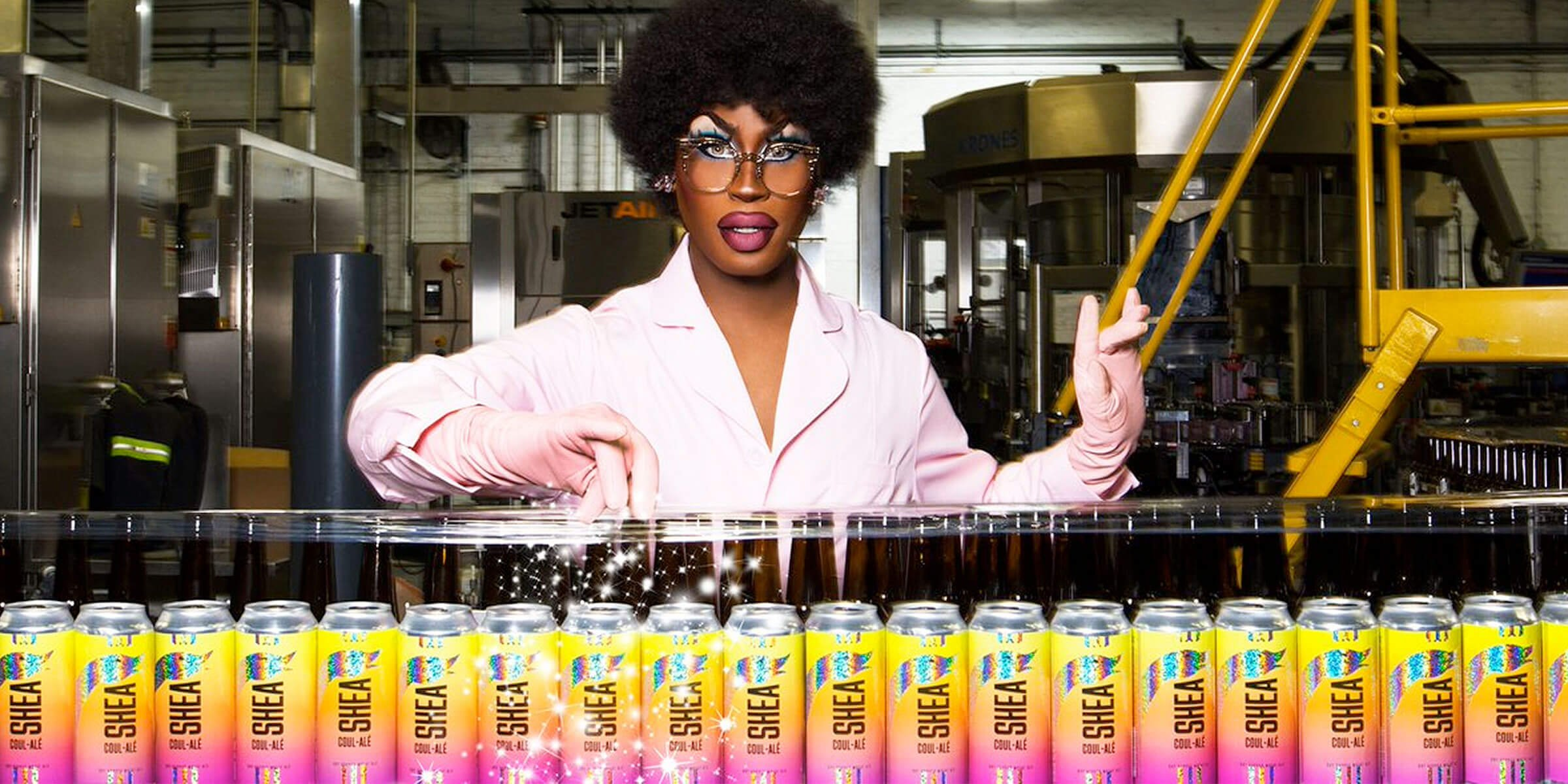 Goose Island Beer Co. releases a colorful beer for Pride Month in Shea Coul-Alé, a lemony wheat ale brewed in collaboration with drag queen Shea Couleé.