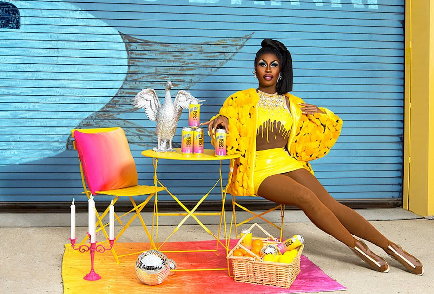 """The """"Shea Coul-Alé"""" collaboration with Shea Couleé is part of Goose Island Beer Co.'s """"Drag-a-Beer"""" campaign that's been out for over a year now."""