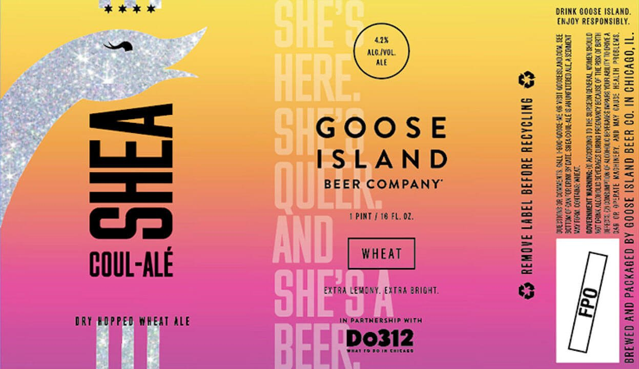 Label design for 16 oz. cans of the Shea Coul-Alé by Goose Island Beer Co.