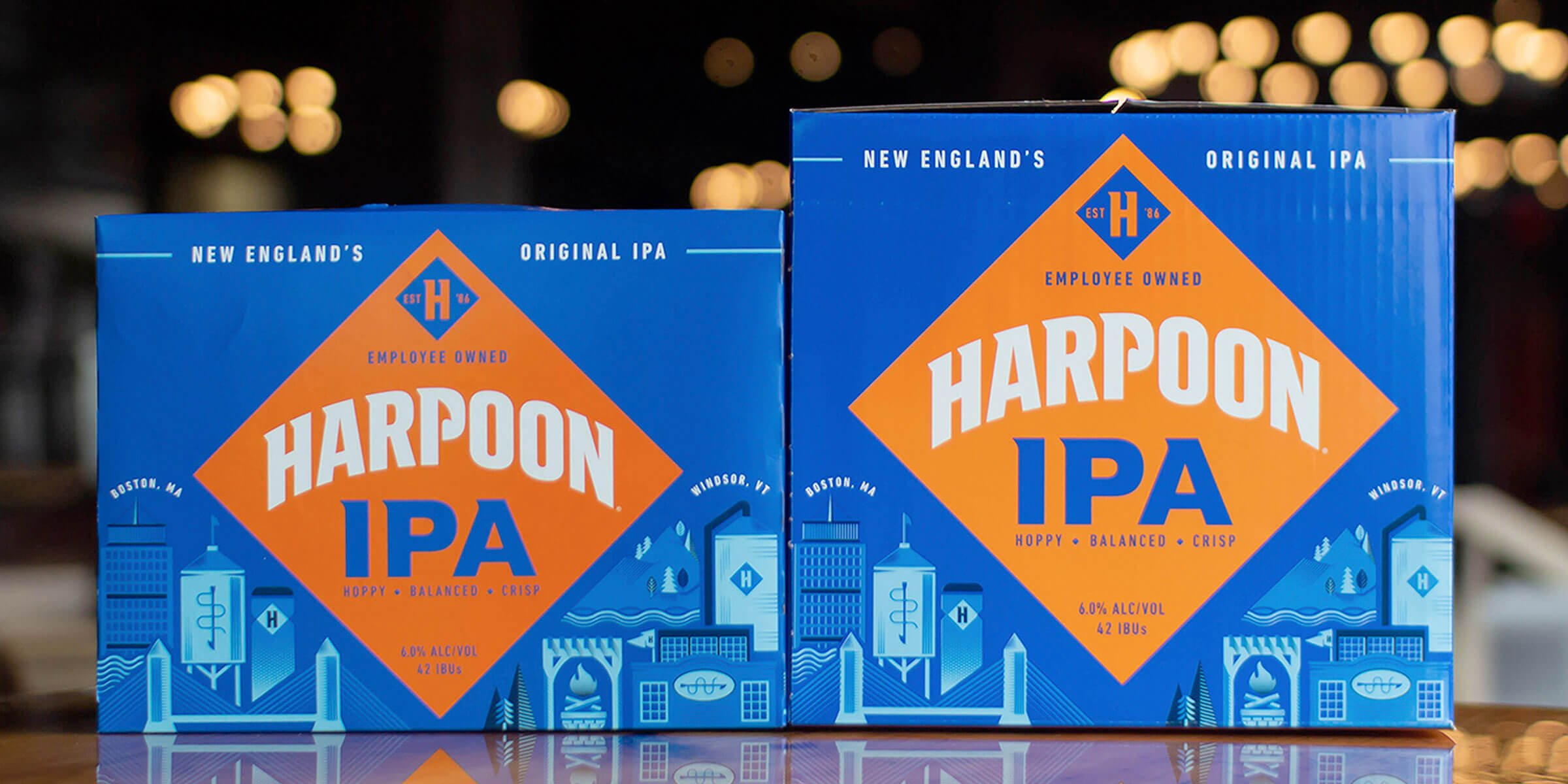 Harpoon Brewery announced its flagship IPA is getting a makeover with bold new packaging that reflects the fans who drink it and employee owners who make it.