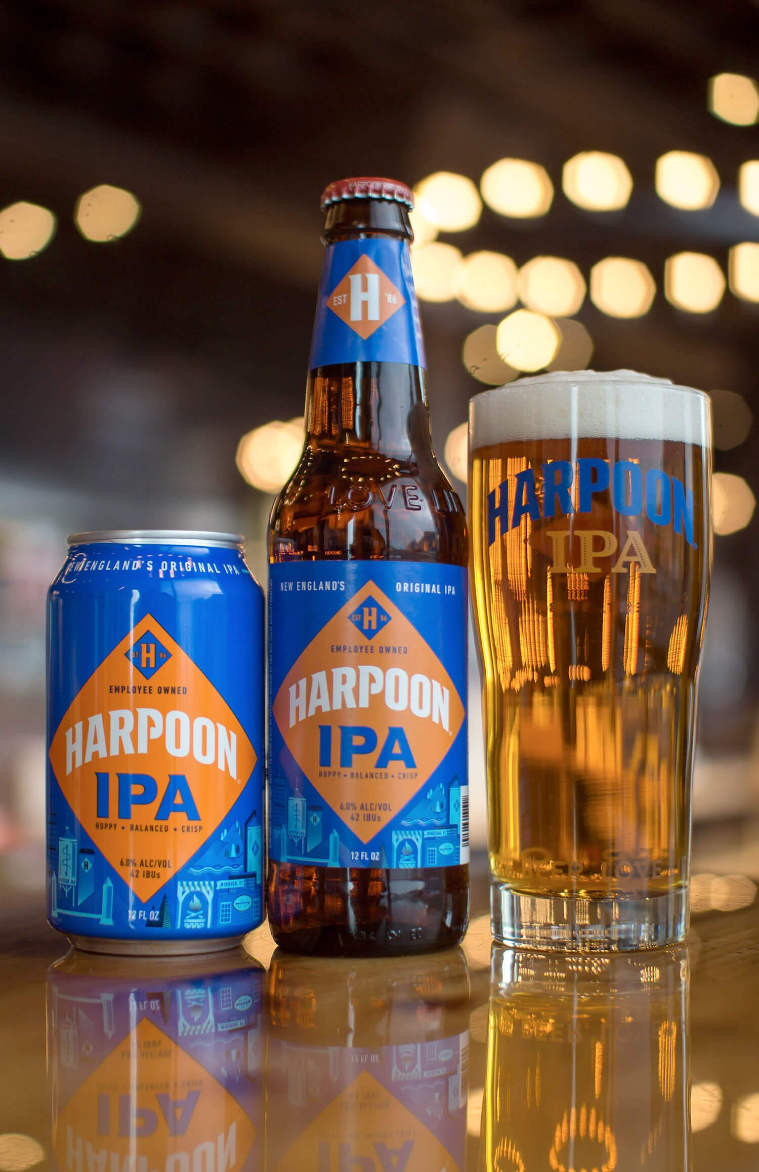 """The revamped packaging makes it loud and clear that Harpoon IPA is proud of its New England roots, while paying tribute to those who have enjoyed it — and helped brew it — for nearly three decades."" — Dan Kenary, CEO of Harpoon Brewery"