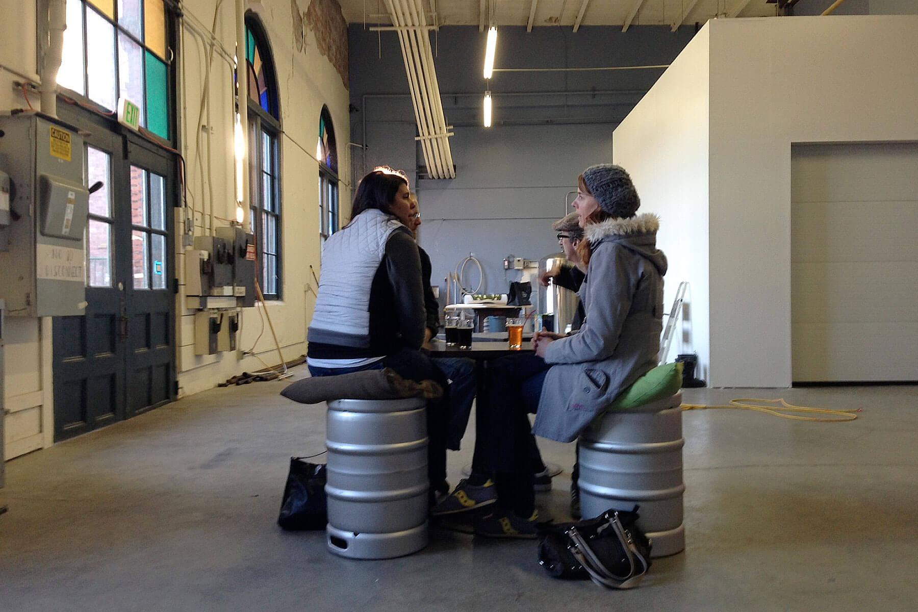Inside the taproom at Machine House Brewery in Seattle, Washington