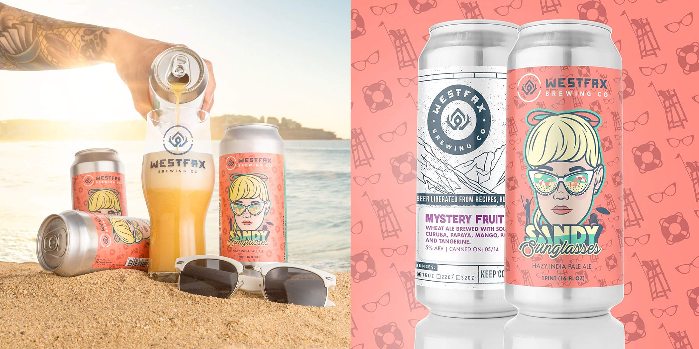 """Westfax Brewing Company released their latest Hazy IPA named """"Sandy Sunglasses"""", brewed to be the little sister beer to their """"Foggy Goggles"""" Hazy IPA."""