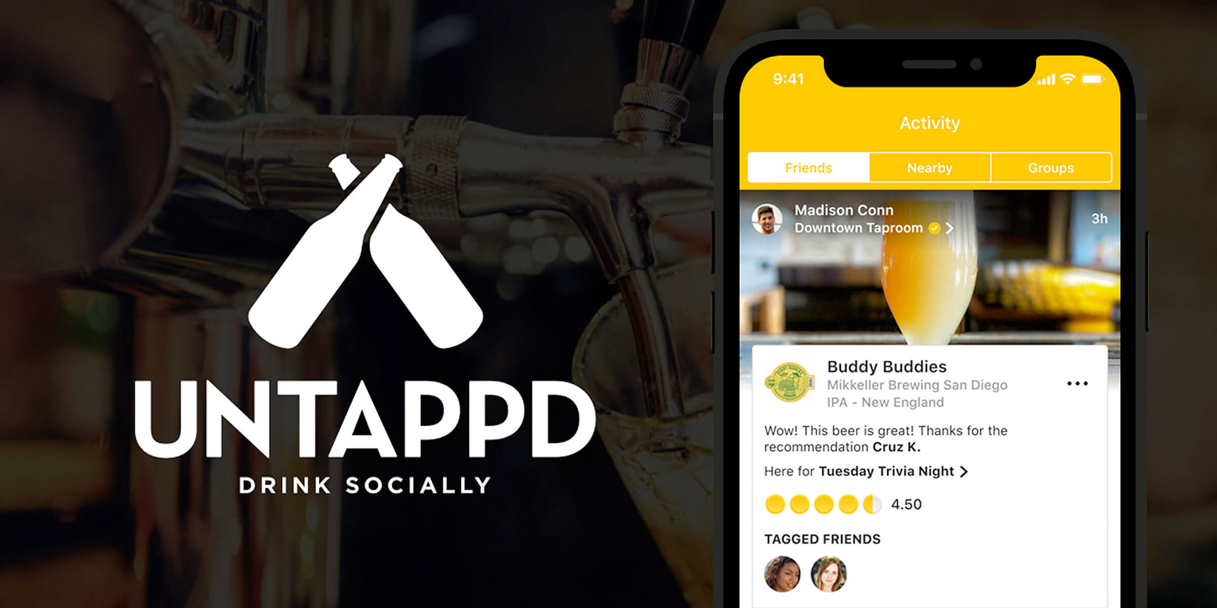 Untappd, a popular beer and brewery-rating app built on top of Foursquare's location-tracking API, poses a risk to the security of military and intelligence personnel.