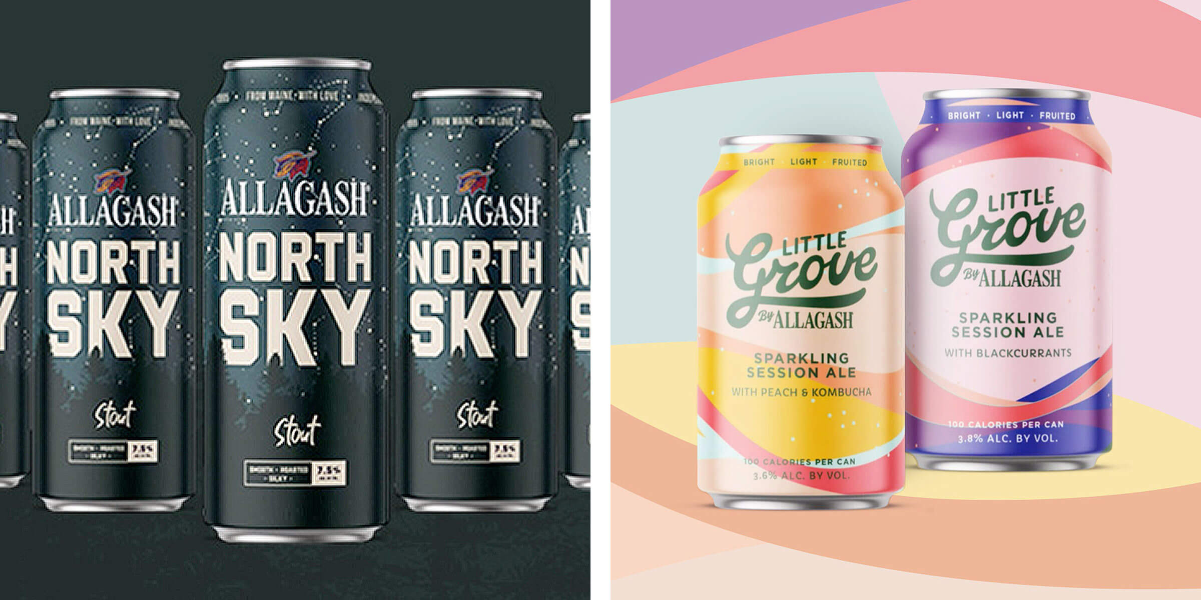 Allagash Brewing Company will add the Little Grove Sparkling Session Ale and the Night Sky Belgian-style Stout to their year-round core lineup.