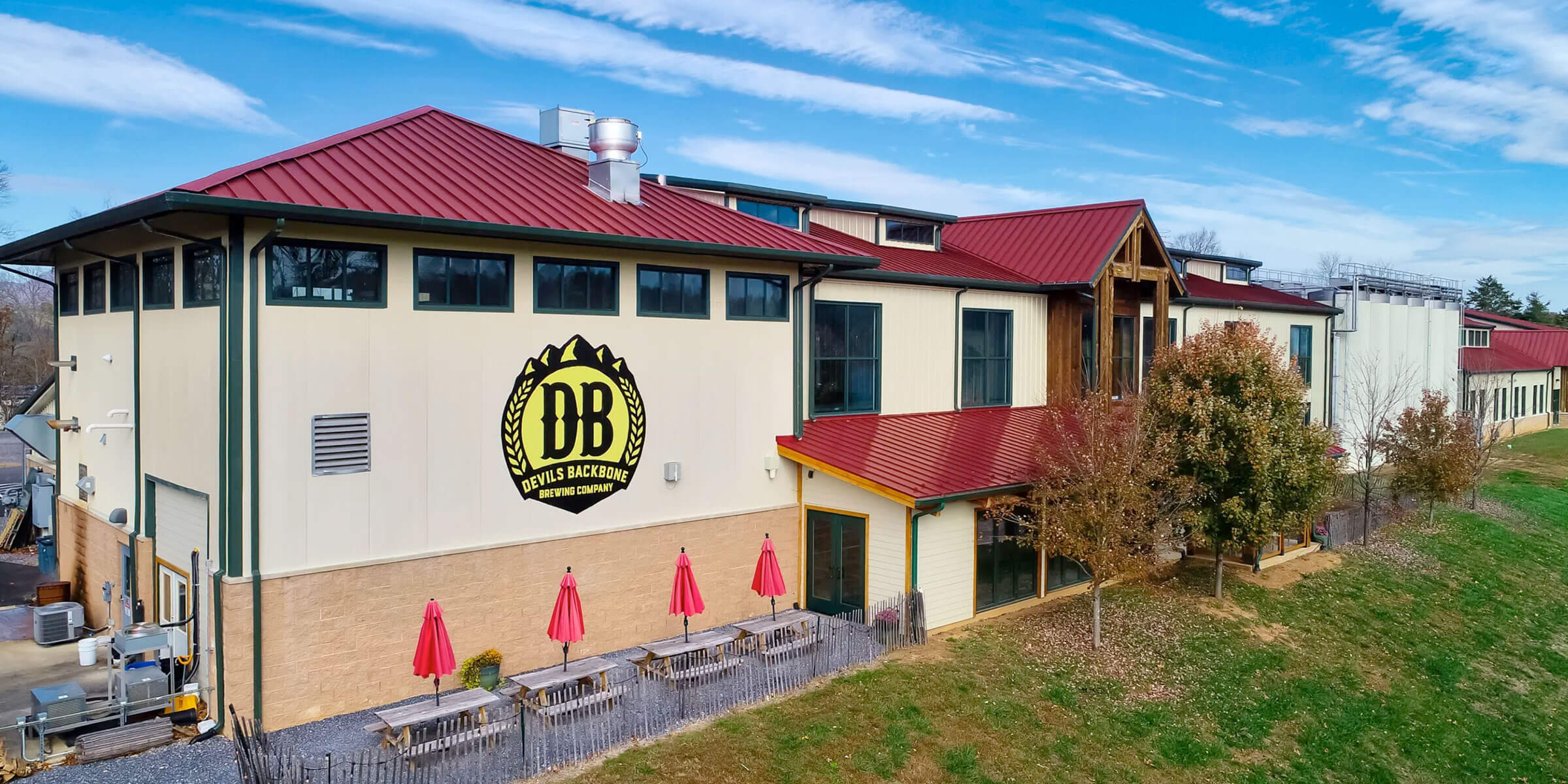 Outside the Devils Backbone Brewing Company Tap Room & Kitchen in Lexington, Virginia