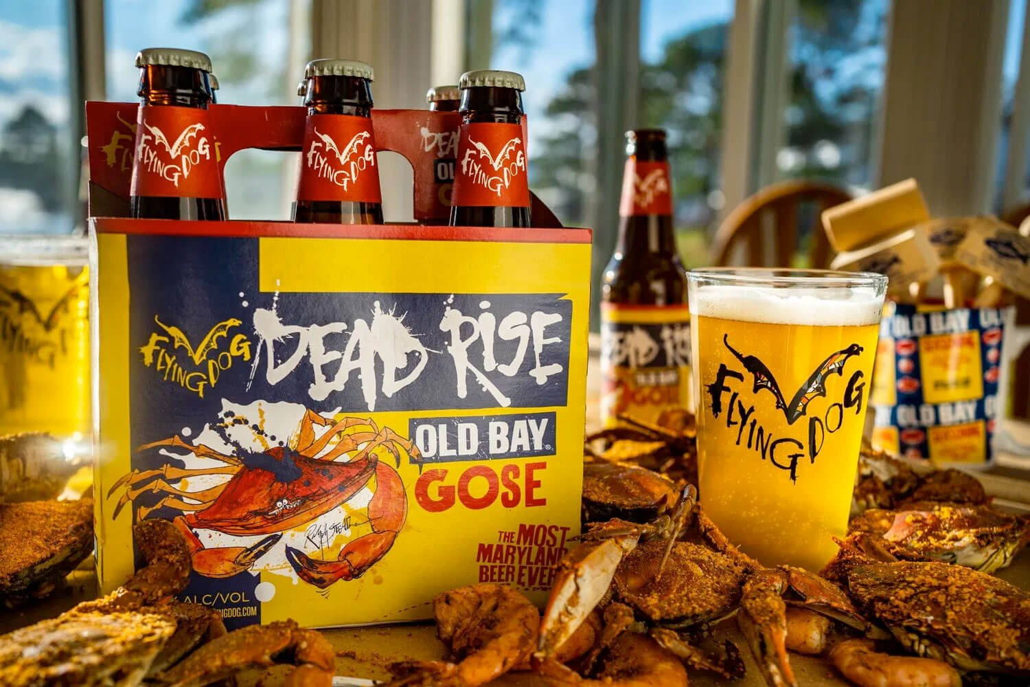 For the 5th anniversary of this innovative beer, Flying Dog Brewery has changed its Dead Rise seasonal to a gose but still features the iconic Old bay seasoning.