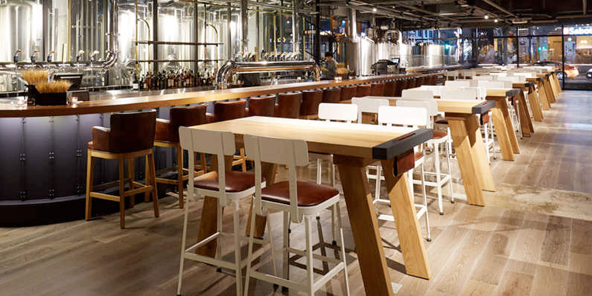 Inside the taproom at the Seoul, South Korea location of Goose Island Beer Co.